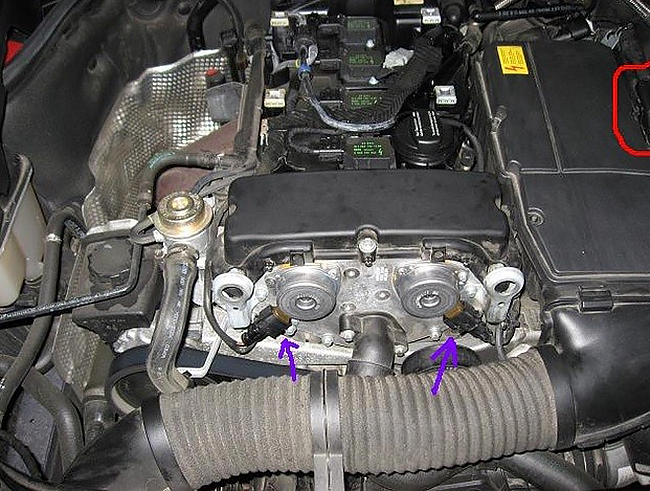 Falla Motor 271 C180 Y C200 Kompressor Aceite En El Ramal De Cables